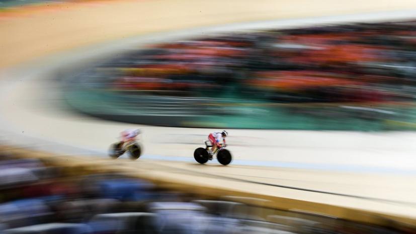 Российские велогонщицы победили в командном спринте на ЕИ-2019