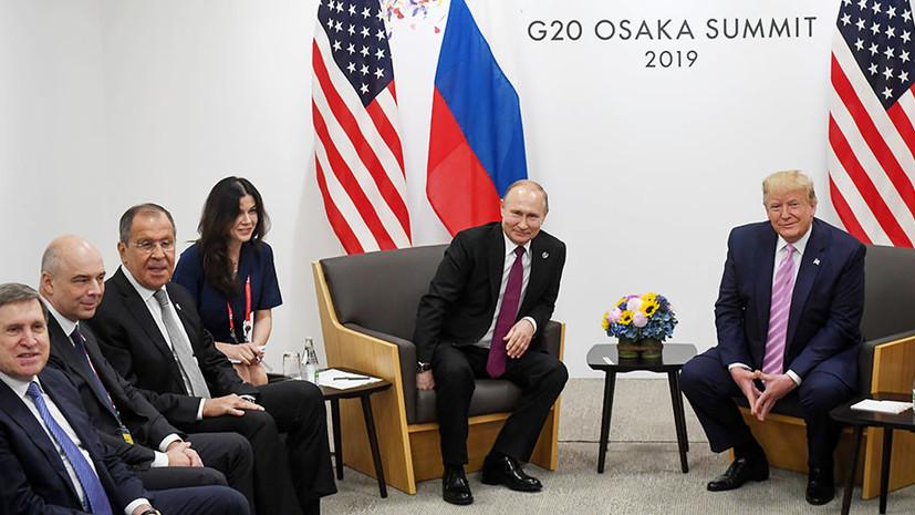 «Достаточно насыщенная»: Песков о встрече Путина и Трампа на саммите G20