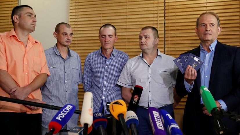 Медведчук заявил, что ЛНР и ДНР сами выбрали людей для освобождения