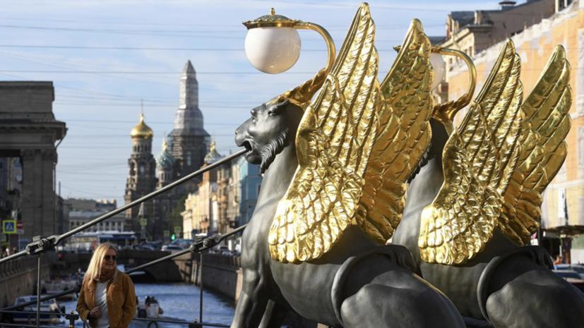 Банковский мост в Петербурге пострадал от предполагаемых вандалов