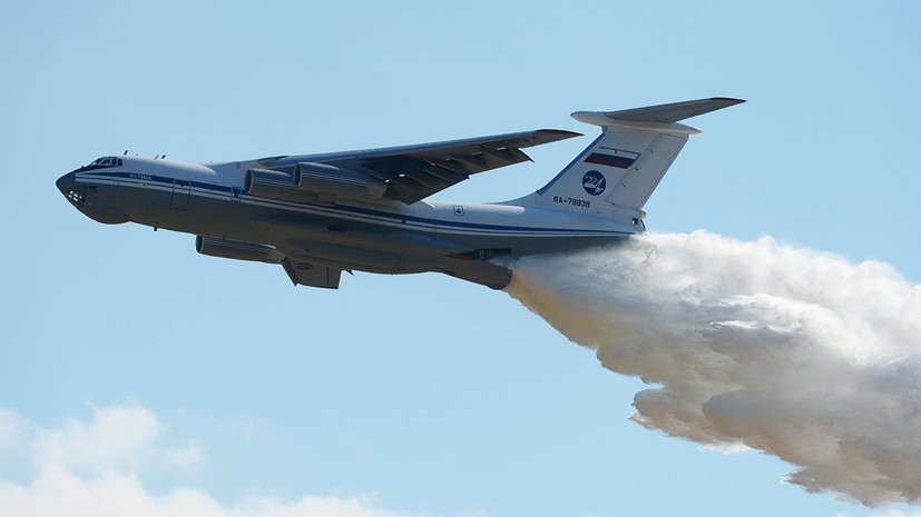Военный самолёт Ил-76 привлечён для тушения пожара в Оренбуржье