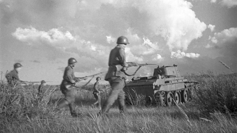 В Монголии захоронили останки 25 советских героев битвы на Халхин-Голе