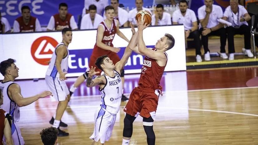 Юношеская сборная России по баскетболу проиграла Аргентине на старте ЧМ
