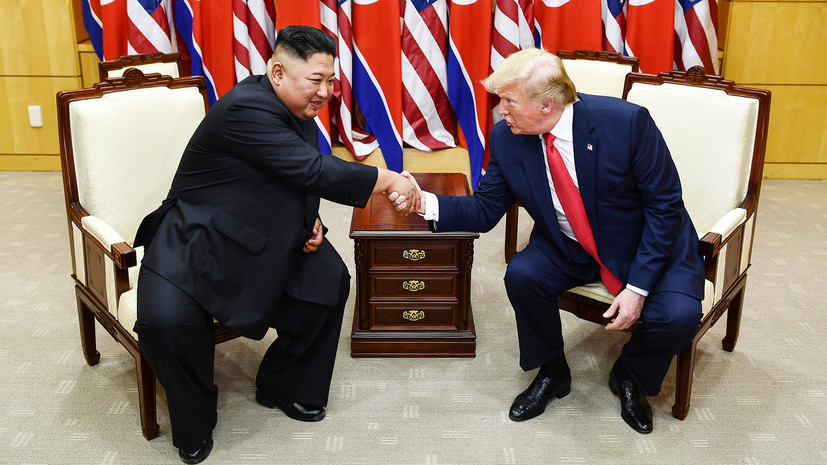 «Без обязательств»: Трамп и Ким Чен Ын встретились на границе Северной и Южной Кореи