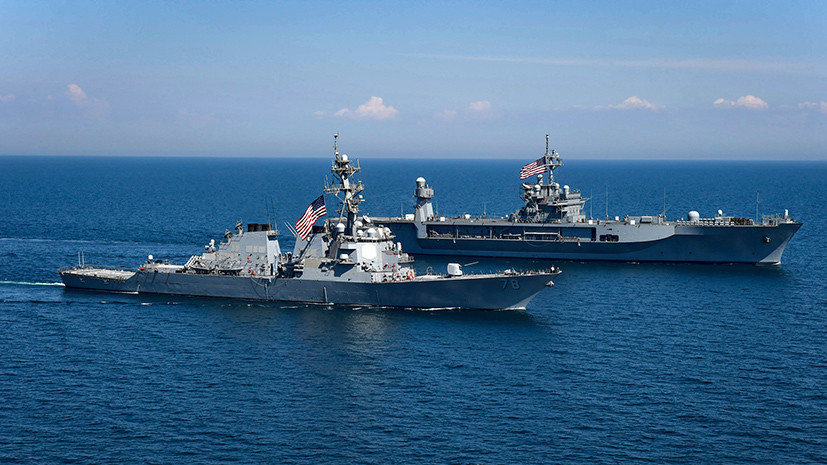 «Поднять антироссийский градус»: на Украине стартуют совместные с США военные учения в Чёрном море