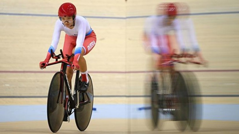 Велогонщицы Климова и Новолодская завоевали бронзу в мэдисоне на ЕИ-2019