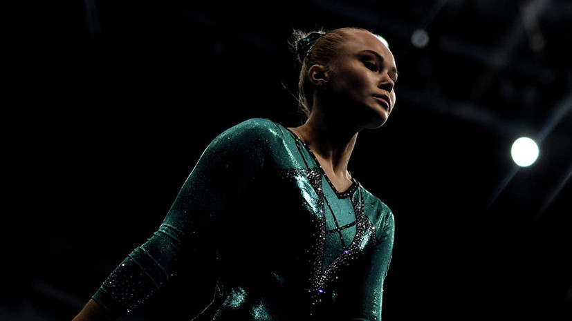Мельникова завоевала золото в упражнении на брусьях на Европейских играх
