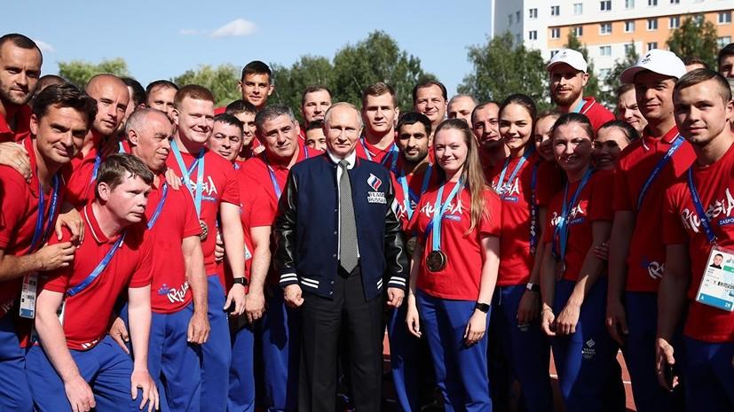 Путин остался доволен выступлением россиян на Европейских играх в Минске