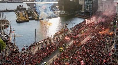 Парад в честь победы «Ливерпуля» в ЛЧ посетило более 750 тысяч человек