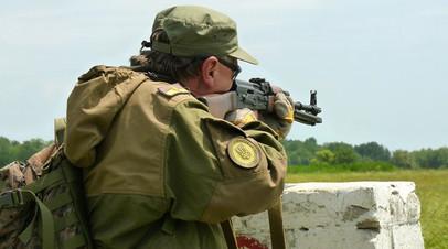 Боец территориальной обороны Украины