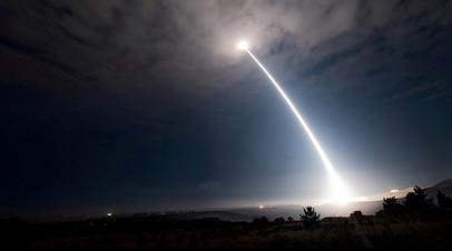 Пуск американской баллистической ракеты Minuteman III