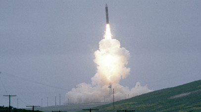 Тестовый пуск американской МБР LGM-118A