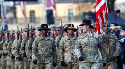 Американские солдаты на военном параде в Латвии, 2018 год