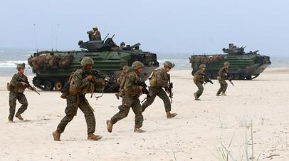 Американские военные в ходе учений «Балтийские операции»