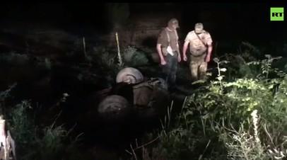 Опубликовано видео с места ликвидации сторонников ИГ в Дагестане