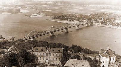 Мост имени Евгении Бош через Днепр, существовавший в 1925—1941 годах в Киеве