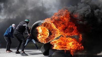 Протесты палестинских активистов