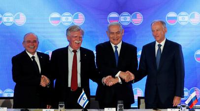 Патрушев подвёл итоги переговоров с представителями США и Израиля