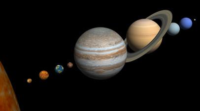 Планеты Солнечной системы. Иллюстрация