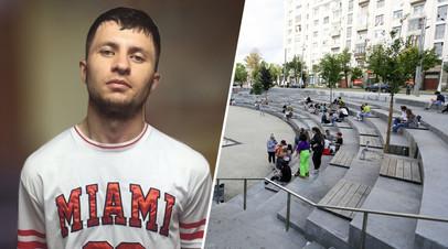 Мурат Сабанов и вид на амфитеатр на Хохловской площади