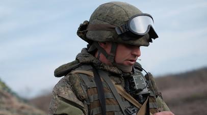Военнослужащий РФ, оснащённый комплексом «Стрелец»