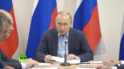 Путин дал поручения в связи с паводками в Иркутской области