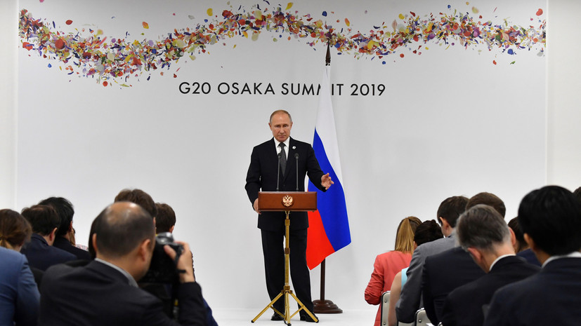 Песков удивился интересу журналистов к термокружке Путина на G20