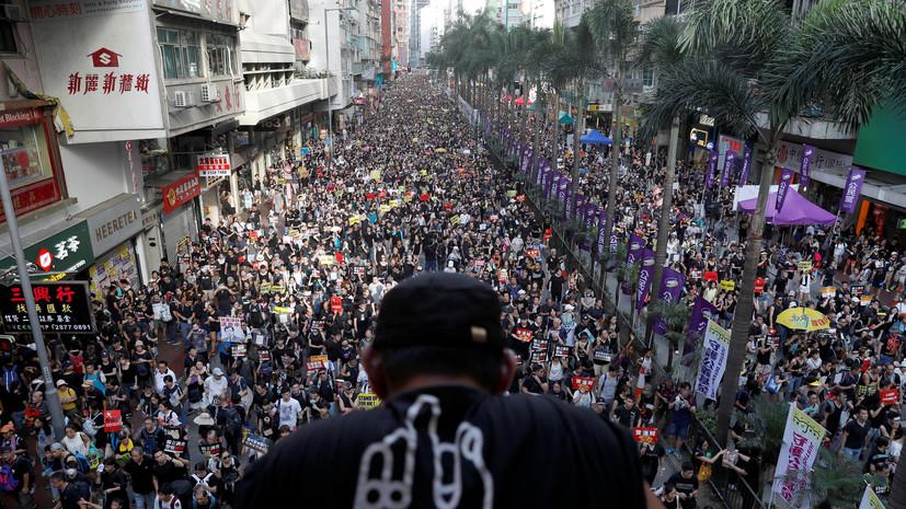 МИД Британии поддержал право жителей Гонконга на протесты