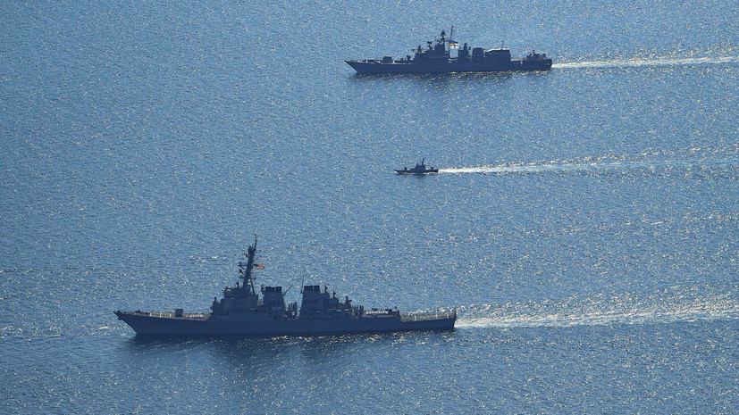 Черноморский флот России следит за учениями НАТО Sea Breeze