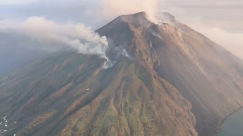 Эксперт прокомментировал извержение вулкана Стромболи в Италии