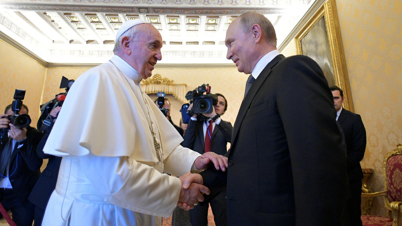 Путин подарил Папе Римскому диск с фильмом Кончаловского
