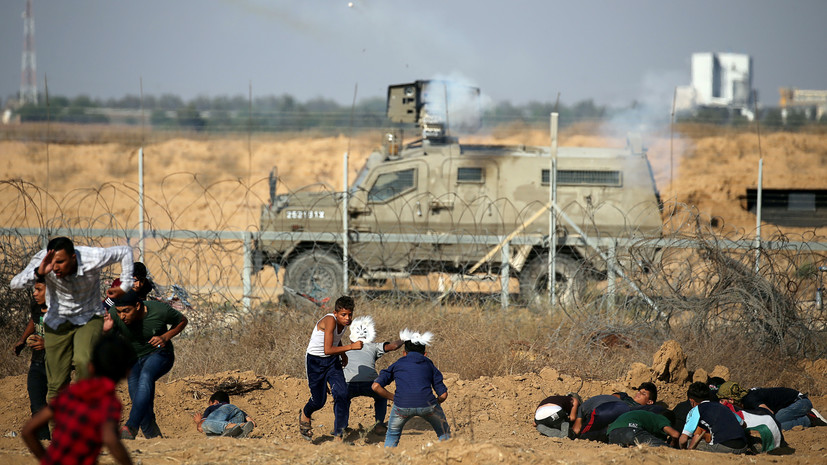 В секторе Газа 30 палестинцев пострадали при стычках с армией Израиля