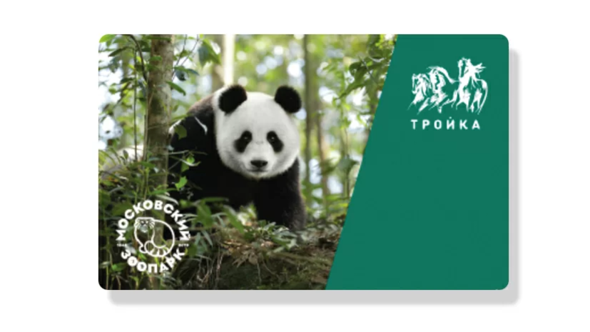 В московском метро в продажу поступила карта «Тройка» с изображением панды