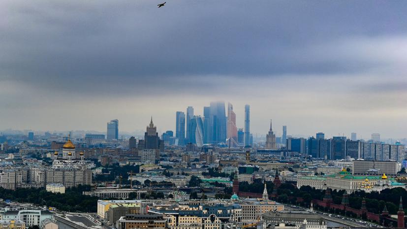 В Москве в ближайшие часы ожидается усиление ветра и гроза