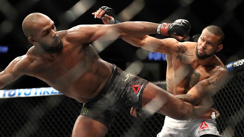 Американец Джонс победил Сантоса и защитил титул UFC в полутяжёлом весе