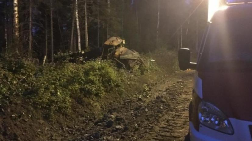 Двух пострадавших в результате ЧП с бензовозом доставили в Екатеринбург