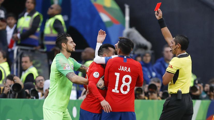 Удаление в матче с Чили стало вторым в карьере Месси