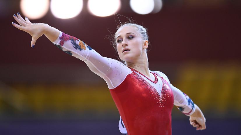 Гимнастка Ахаимова заняла второе место в опорном прыжке на Универсиаде