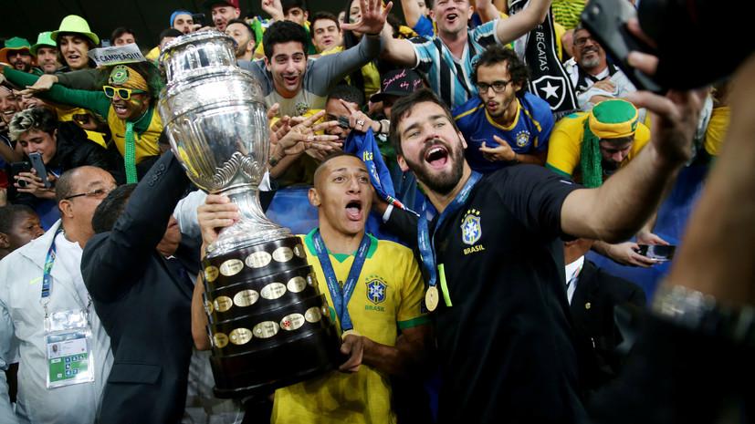 Неймар поздравил сборную Бразилии с победой в Кубке Америки