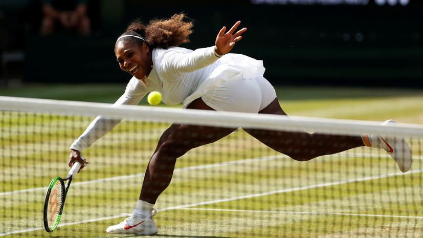 Серена Уильямс обыграла Суарес-Наварро и вышла в четвертьфинал Уимблдона