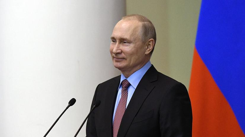 Путин подарил красноярскому школьнику щенка золотистого ретривера