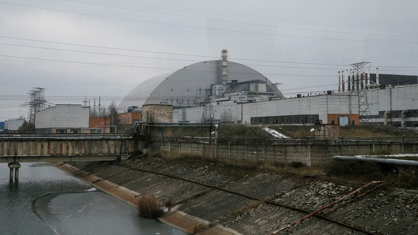 The new sarcophagus of the Chernobyl nuclear power plant