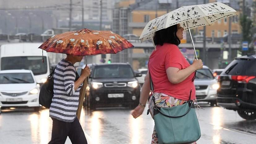 МЧС предупредило о дожде с грозой и порывистым ветром в Москве