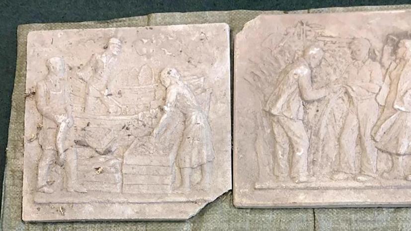 Авторские модели барельефов нашли во время реставрации павильона «Биология» на ВДНХ
