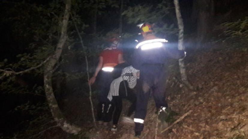 В горах Сочи туристка упала в обрыв