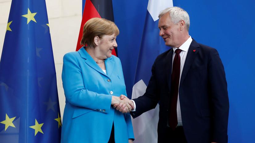 Меркель прокомментировала инцидент на встрече с премьером Финляндии