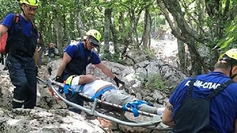 В горах Крыма спасли туриста из Свердловской области