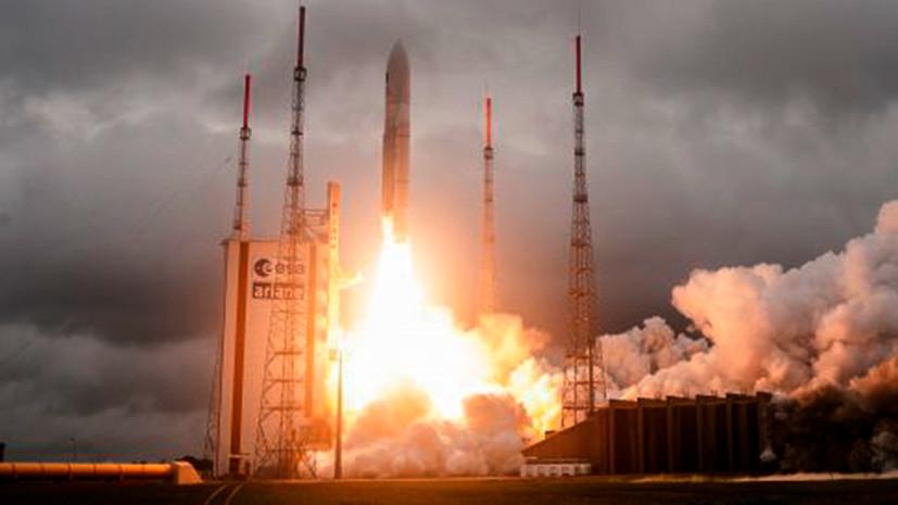 Появилось видео неудачного пуска ракеты-носителя Vega со спутником ОАЭ
