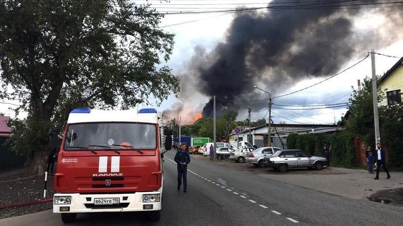 Пожарные потушили факел на территории ТЭЦ-27 в Мытищах