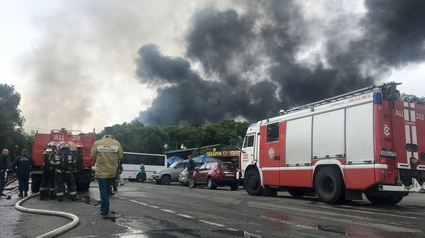 СК начал проверку из-за пожара на территории ТЭЦ-27 в Мытищах